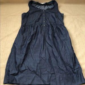 J. Crew Lightweight Cotton Denim Snap Dress